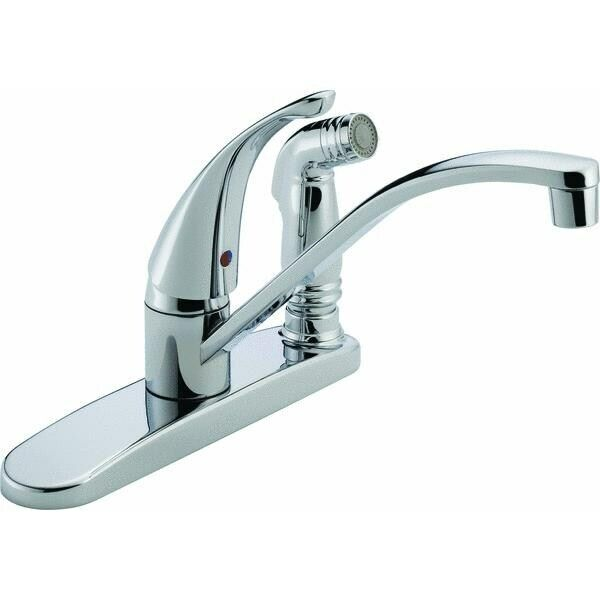 Peerless Single Handle Kitchen Faucet With SprayNo