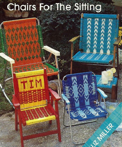 macrame lawn chair buy covers for weddings wholesale patterns: geometrics, child, adult - chairs the sitting | ebay