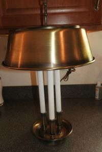 Vintage Brass Bouillotte Candlestick Table Lamp Hollywood ...