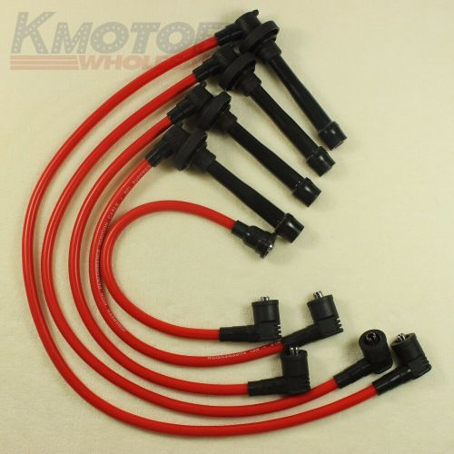 small resolution of details about spark plug wire set for honda civic del sol eg ek ej d16 d15 spiral core 92 00