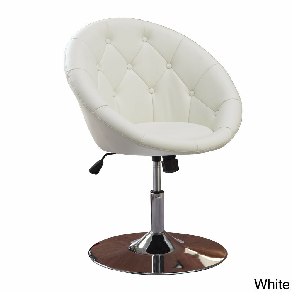 Adjustable Vanity Chair White Vanity Stool Swivel Chair Seat Bedroom Furniture Living Room Adjustable Ebay