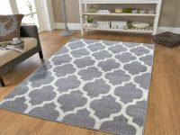 New Gray Rugs Moroccan Trellis Area Rugs Grey Carpet 5 x 7 ...