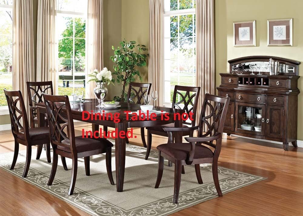 Antique Framed traditional Dining Chairs Walnut Finish