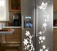 DIY Vine Refrigerator Closet Door Wall Stickers Mural