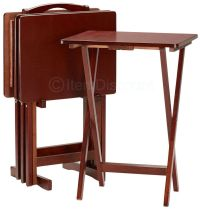 Folding Tv Tray Tables. 5 Piece Wood Folding Tray Table ...