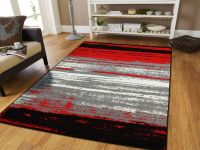 Large Grey Modern Rugs For Living Room 8x10 Abstract Area ...