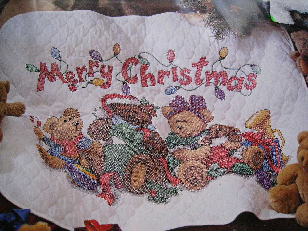 Holiday Dimensions Stamped Cross Stitch Quilt Kit