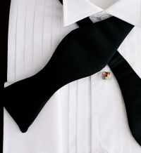 New Black Bow tie Satin Self Tie Tuxedo formal shirt Best ...