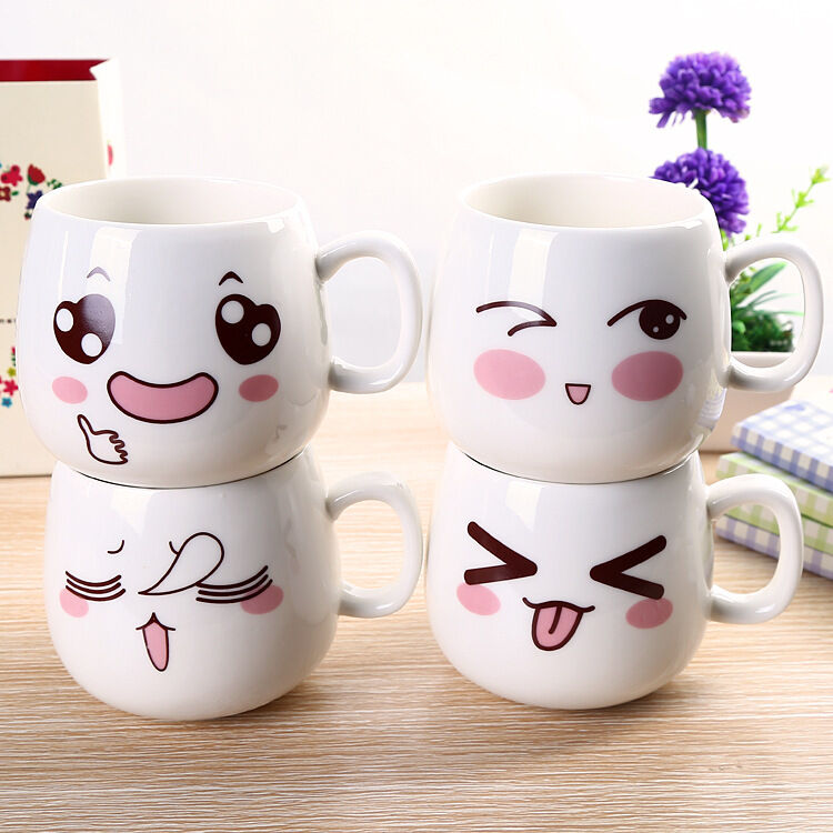 Cute Cartoon Tea Coffee Milk Cup Ceramic Travel Cup
