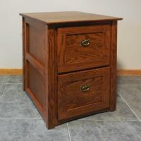 Authentic Mission 2 Drawer File Cabinet Solid Oak #320
