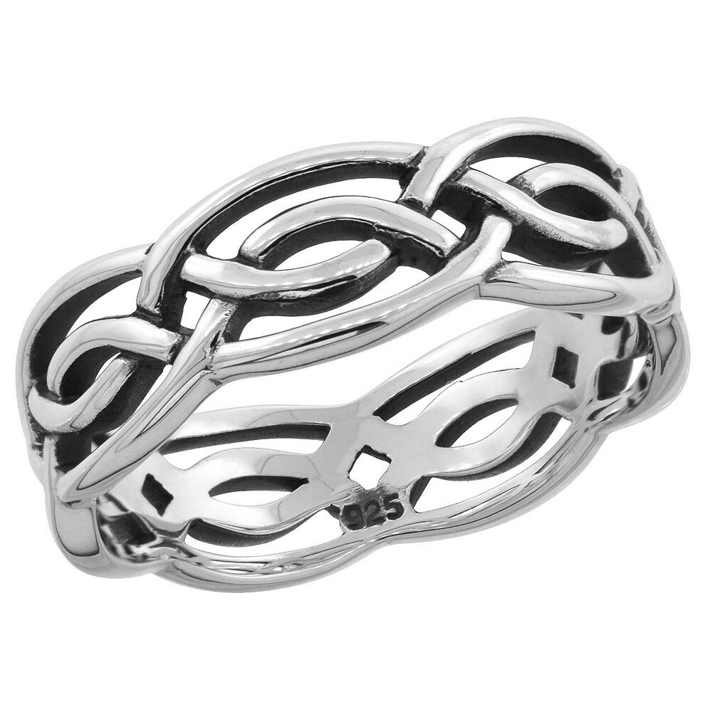 Sterling Silver Celtic Knot Wedding Band Thumb Ring EBay