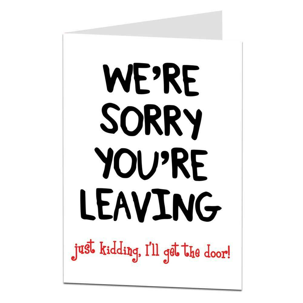 Rude Leaving New Job Retirement Card Funny Humour Cheeky
