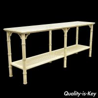 Vintage Faux Bamboo Hollywood Regency Chinese Chippendale ...
