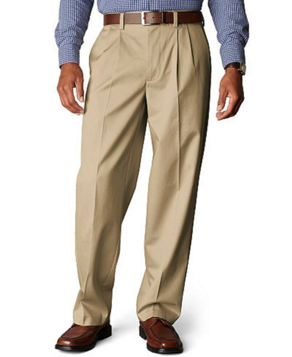 Mens Pants Chino Khaki 28 29 30 31 32 33 34 36 38 40 42 46