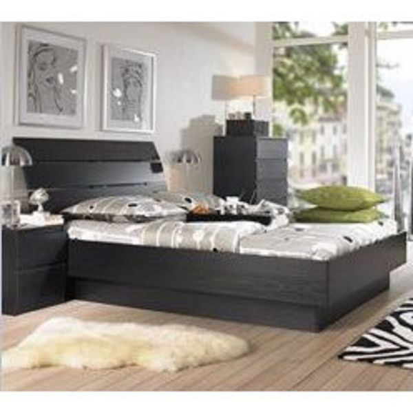 5 Piece Queen Bedroom Furniture Set Headboard Bed Dresser Nightstand Chest