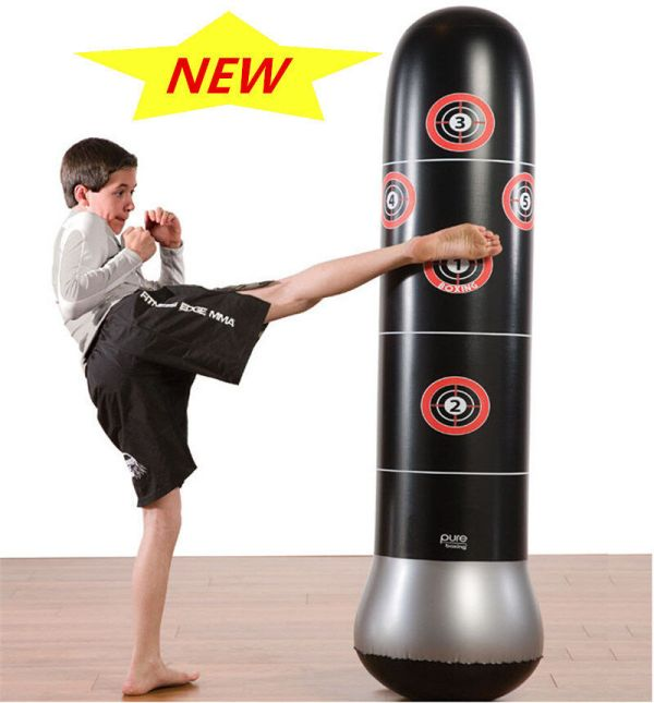 160cm Inflatable Training Bop Bag Boxing Tumbler Roly-poly