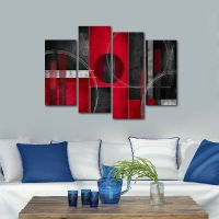 Framed Abstract Canvas Print Home Decor Wall Art Painting ...