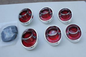 1964 Chevy Impala Complete Tail Light Lamp Backup Lens