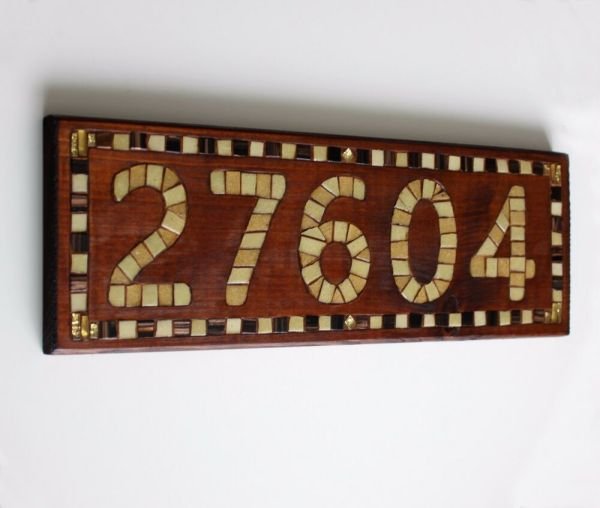 Wooden House Number Sign