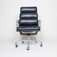 Eames Aluminum Chair Oxo Sprout High Replacement Tray Herman Miller Back Soft Pad Group Black Leather   Ebay