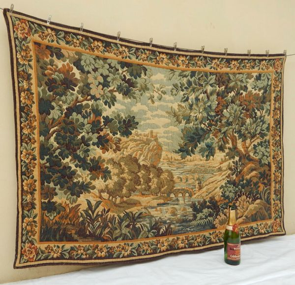 Antique French Tapestry Wall Hanging