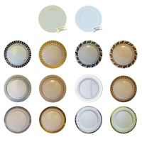 40 Plastic Party Plates Disposable Dinner Wedding Dishes ...