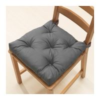 IKEA Chair Cushion Kitchen MALINDA Gray Indoor Outdoor ...