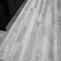 Water Resistant Grey Oak Click Vinyl Flooring Wood ...