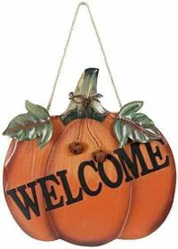 Attraction Design Welcome Pumpkin Wooden Sign Fall Hanging ...