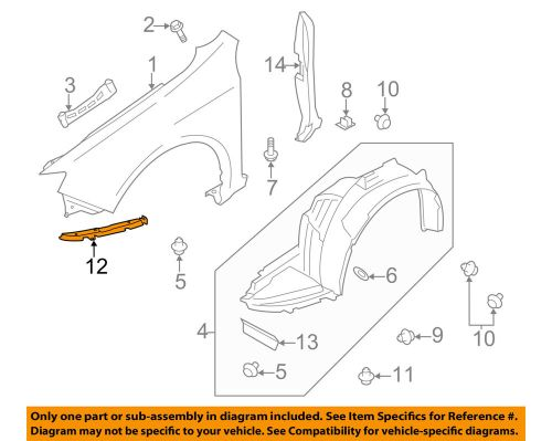 small resolution of details about subaru oem 08 11 impreza fender retainer plate left 59140fg010
