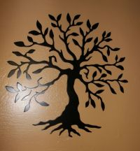 Olive Tree --Tree of Life Black Metal Wall Art Decor | eBay