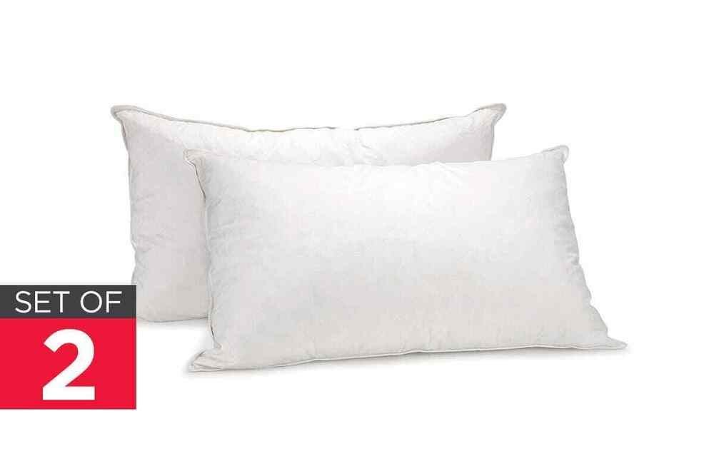 Royal Comfort Set of 2 Goose Feather Down Pillows