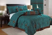 Rustic Turquoise Embroidery Texas Star Western Luxury