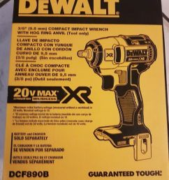 details about dewalt 20v max xr brushless 3 8 impact wrench bare tool dcf890b [ 827 x 1000 Pixel ]