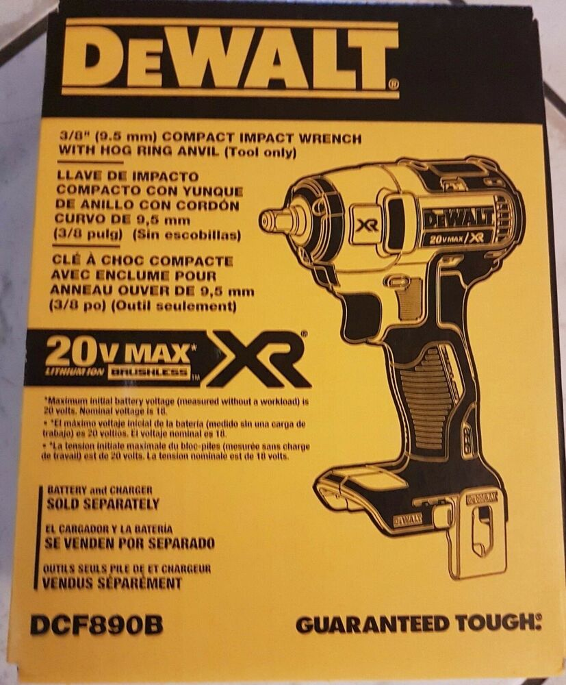 hight resolution of details about dewalt 20v max xr brushless 3 8 impact wrench bare tool dcf890b