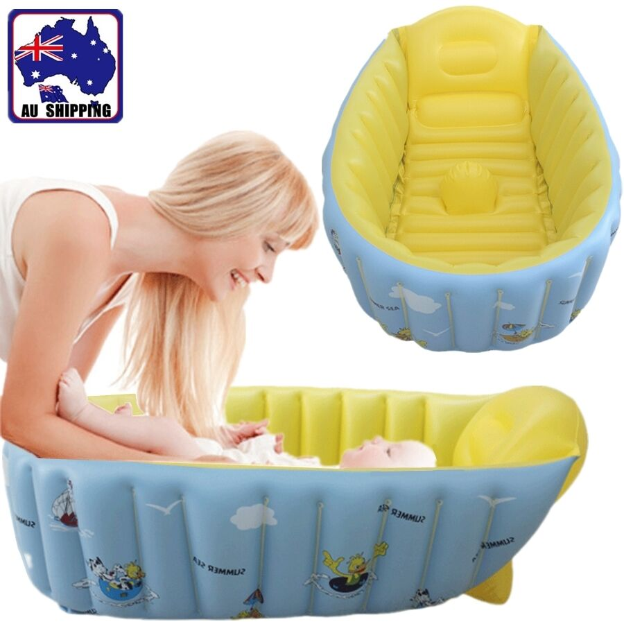 Inflatable Baby Tub Travel Baths Showers Soft PVC Newborn