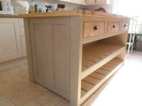 Rustic, Chunky Solid Pine Kitchen Island / Breakfast bar ...