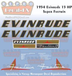 details about 1954 evinrude 15 hp super fastwin outboard repro 8 pc vinyl decals 15012 15013 [ 1000 x 1000 Pixel ]