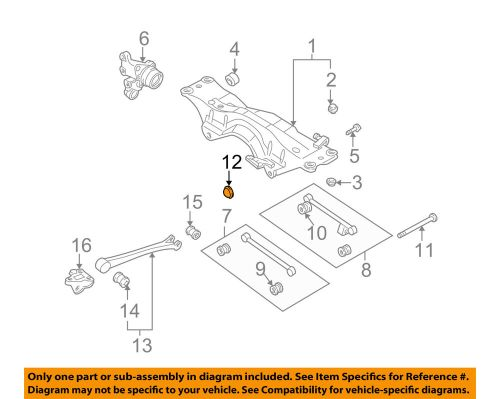 small resolution of details about subaru oem 93 07 impreza rear suspension end cap 20530aa020