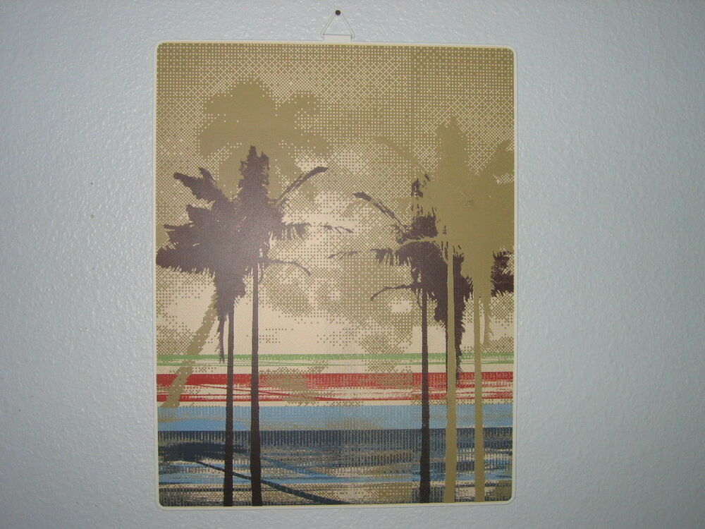 NWT PALM TREE Beach Metal Wall Sign Art Decor Picture