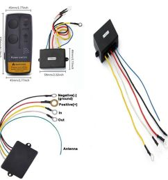 details about heavy duty wireless remote handset swith control system for 12 volt winches car [ 966 x 966 Pixel ]