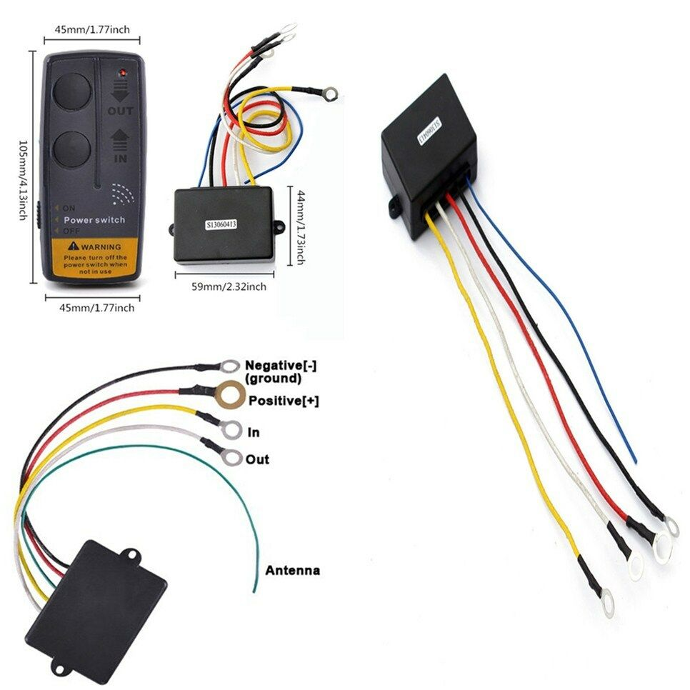 medium resolution of details about heavy duty wireless remote handset swith control system for 12 volt winches car