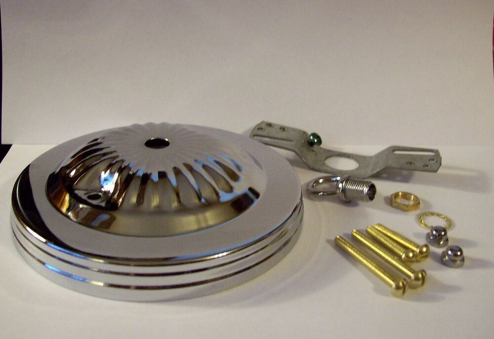 "5"" CHROME FINISH CEILING CANOPY KIT FOR LIGHT FIXTURES"