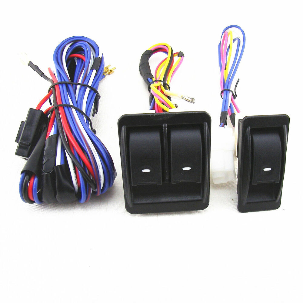 hight resolution of details about 12v 12 volt car electric power window master control switch with wiring harness