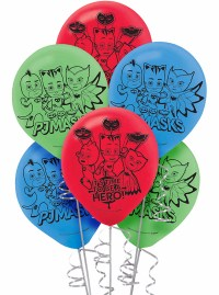 PJ Masks Printed Latex Balloons Birthday Decorations Party ...