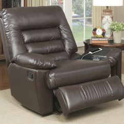 Brown Leather Sofa Recliner Chaise Lounge Furniture Serta Big Tall Memory Foam Massage | Ebay