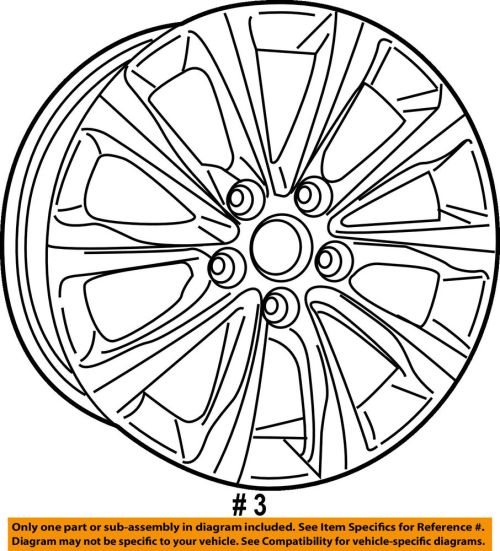 small resolution of details about chrysler oem 17 18 pacifica wheel alloy aluminum 5rj39gsaaa