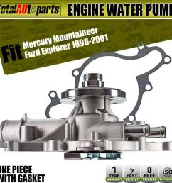 details about engine water pump for ford explorer 1996 2001 mountaineer v8 5 0l ohv 125 1960 [ 1000 x 1000 Pixel ]