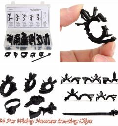 details about 54 pcs car nylon wiring harness routing assortment convoluted conduit fixed clip [ 1000 x 1000 Pixel ]