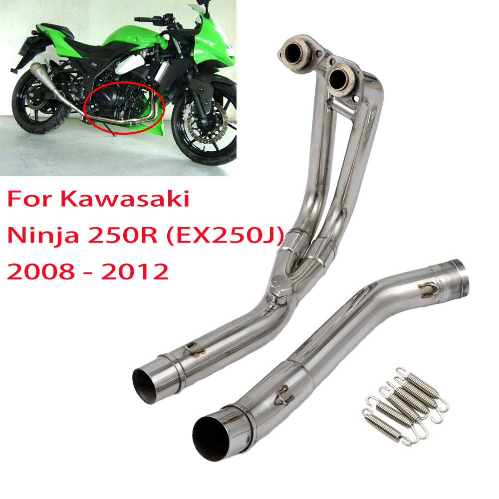 Stainless Header Exhaust w/ Mid Pipe for Kawasaki Ninja